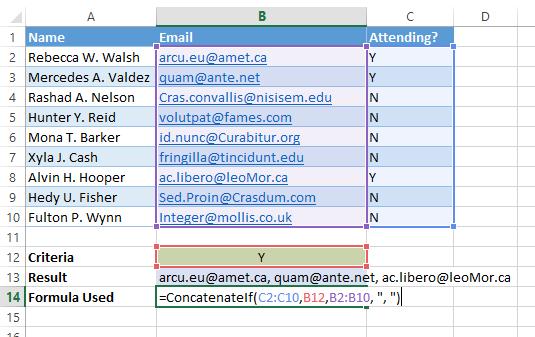 ConcatenateIf How To Conditionally Concatenate A Range