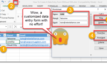 How To Create A Data Entry Form Without VBA