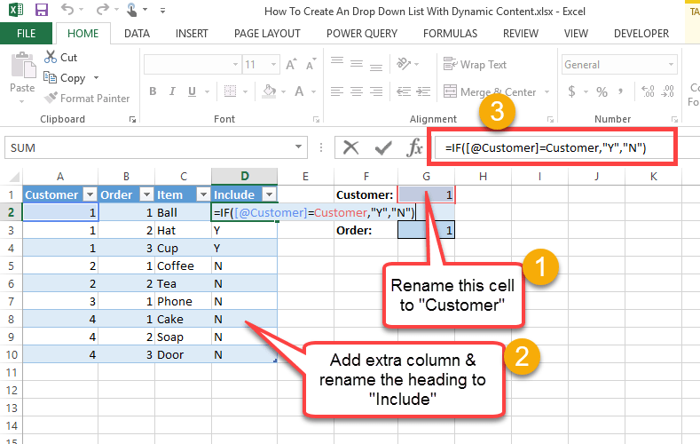 how to make words go down in excel
