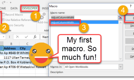 How To Record And Run Your First Macro