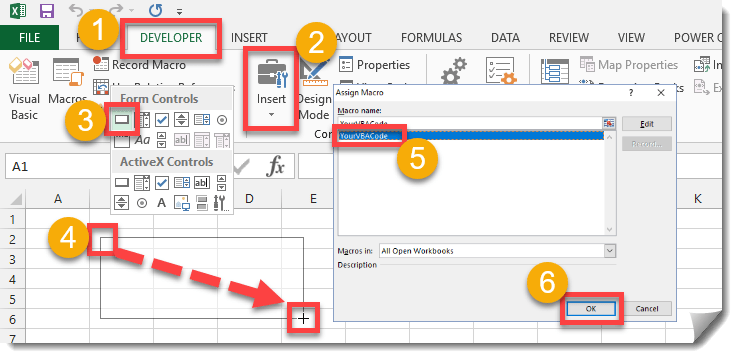 Step-001-How-To-Add-A-Form-Control-Button-To-Run-Your-VBA-Code How To Add A Form Control Button To Run Your VBA Code