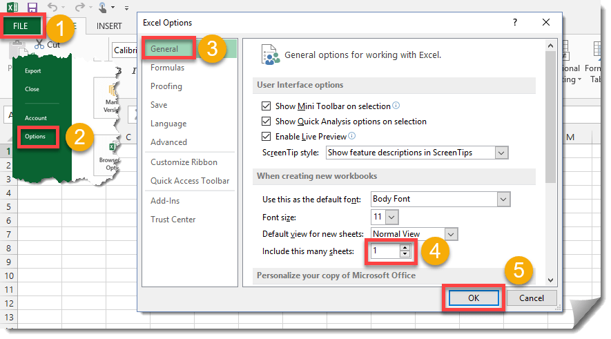 Step-001-How-To-Change-The-Default-Number-Of-Sheets-In-A-New-Workbook How To Change The Default Number Of Sheets In A New Workbook