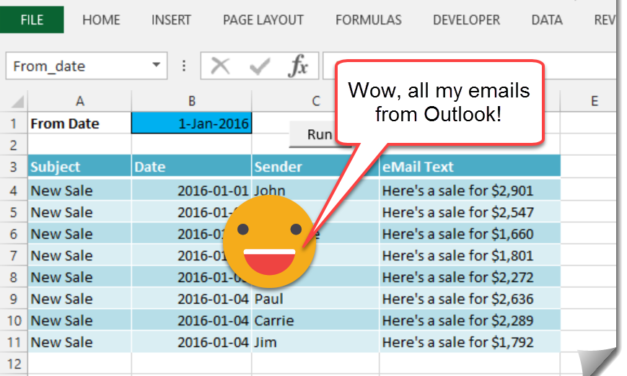 How To Import Your Outlook Emails Into Excel With VBA