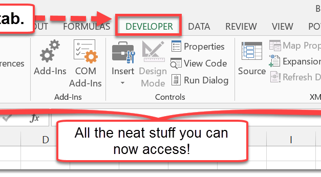 How To Enable The Developer Tab