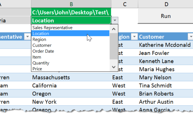How To Export Your Data Into Separate Workbooks Based On The Values In A Column