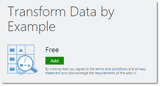 Step-001-How-To-Transform-Data-By-Example-Get-The-Add-In How To Transform Data by Example