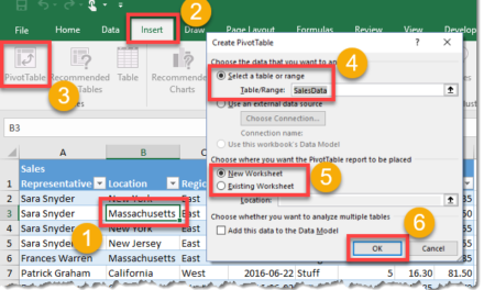 How To Create A Pivot Table
