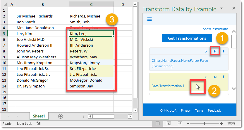 Step-008-How-To-Transform-Data-By-Example-Compare-Transformations How To Transform Data by Example
