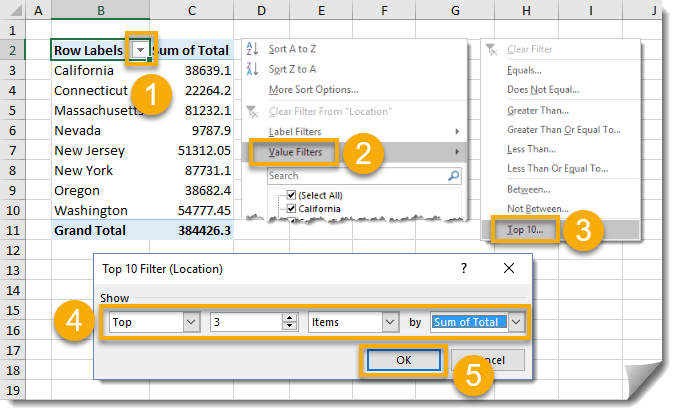 005-How-To-Create-A-Pivot-Table-Add-Top-3-Value-Filter How To Build Your Pivot Tables