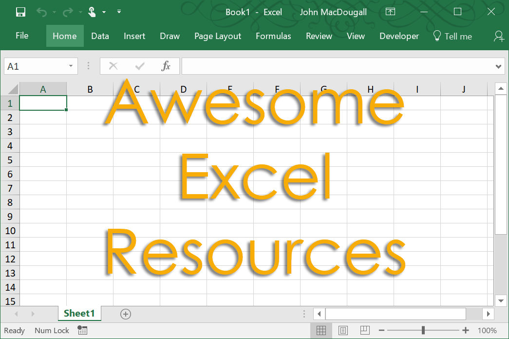 Awesome-Excel-Resources 101+ Awesome Resources To Help You Learn Excel