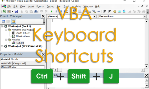 The Complete List Of VBA Keyboard Shortcuts