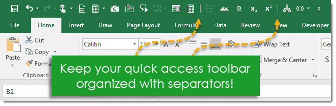 Hidden-Commands-You-Can-Add-to-Your-Quick-Access-Toolbar-Organize-Your-QAT-with-Separators 12+ Hidden Commands You Can Add to Your Quick Access Toolbar
