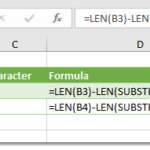 How To Count A Specific Character In A Cell (Case Sensitive)