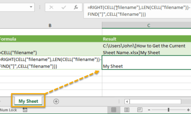 How to Get the Current Sheet Name